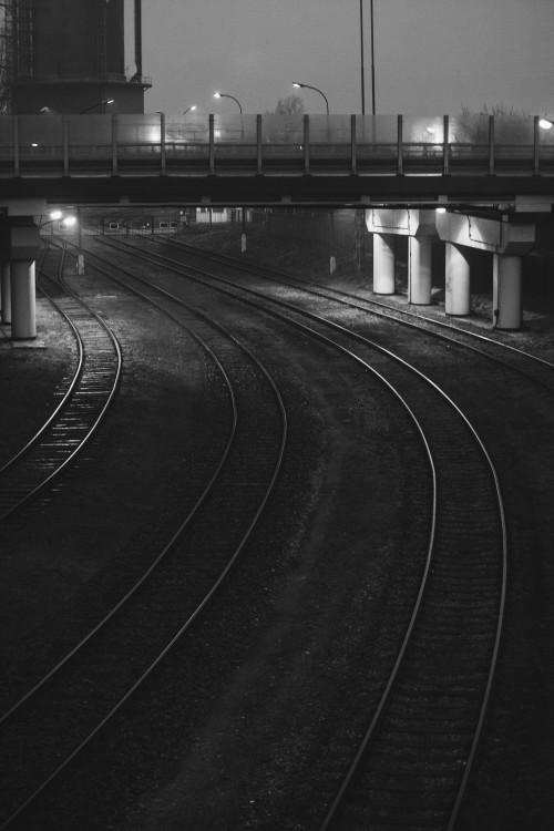 Track Road Expressway Dark Transportation Tunnel #1
