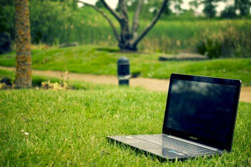 Laptop Notebook Computer Technology Screen Keyboard Business Monitor Work #1