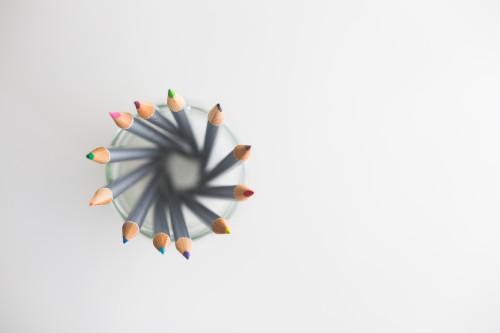 Pencil Sunflower Decoration Colorful Color Flower Art #1