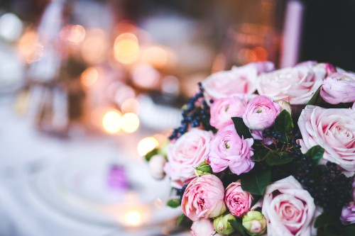 Bouquet Pink Flowers Arrangement Flower Decoration Wedding Floral - Free Photo 1