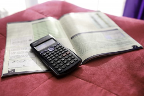 Business Telephone Hand Calculator Technology Device Phone Keyboard #1