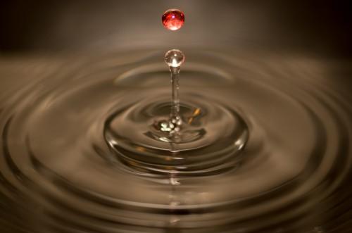 Liquid Drop Water Ripple Wineglass Splashing Clear Splash Drops Motion #1