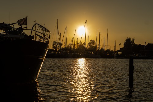 Ship Pier Vessel Water Sunset Pirate Fisherman Boat - Free Photo 1