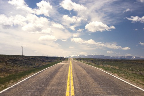 Road Sky Landscape Rural Highway Travel Country Horizon - Free Photo 1