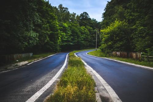 Expressway Road Bend Landscape Sky Highway Rural Asphalt Country Travel #1