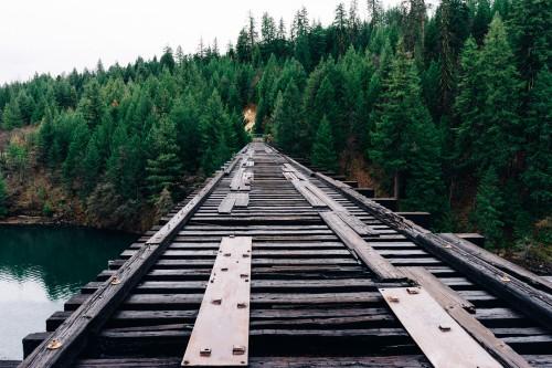 Track Tie Railway Travel Railroad Brace Train Transportation Rail - Free Photo 1