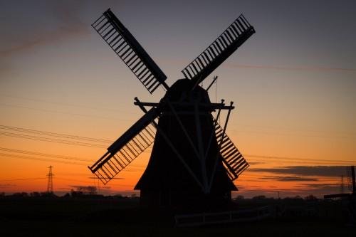 Sky Windmill Crane Rotor Landscape Device #1