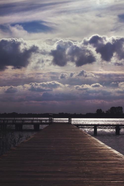 Pier Support Water Sky Device Landscape Sea Lake Shoreline - Free Photo 1