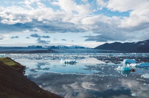 Snow Shoreline Ocean Ice Mountain Glacier Landscape Winter - Free Photo 1